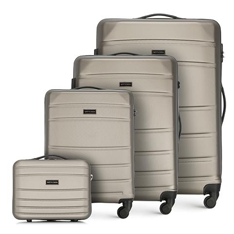 ABS bőröndkészlet, pezsgő, 56-3A-65K-01, Fénykép 1