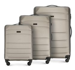 ABS Bőröndkészlet, pezsgő, 56-3A-65S-86, Fénykép 1
