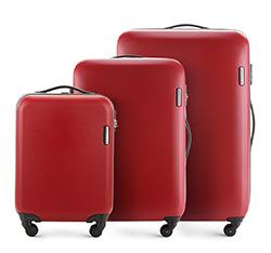Bőrönd szett 3 db-os görgős, piros, 56-3-61S-30, Fénykép 1