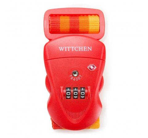 Számzáras poggyászbiztosító pánt, piros, 56-30-013-90, Fénykép 1