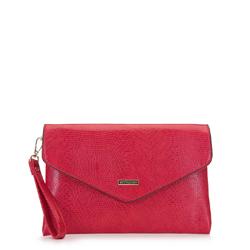 Boríték táska lánccal háromszögletű fronttal, piros, 92-4Y-901-03, Fénykép 1
