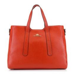 Egyszerű bőr bevásárló táska, piros, 92-4E-620-6, Fénykép 1