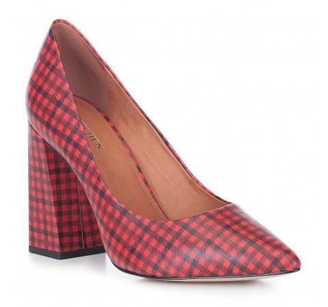 Női cipő, piros fekete, 88-D-550-3-36, Fénykép 1