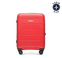 Kabinbőrönd polipropilén modern mintás, piros, 56-3T-771-3R, Fénykép 1
