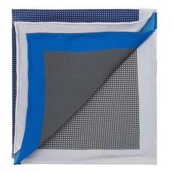 Díszzsebkendő, piros kék, 87-7P-001-7, Fénykép 1