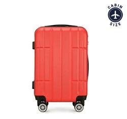 Kabinbőrönd ABS, piros, 56-3A-341-30, Fénykép 1
