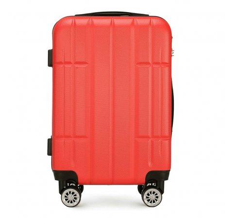 Kabinbőrönd ABS, piros, 56-3A-341-10, Fénykép 1