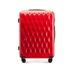 Közepes méretű bőrönd, piros, 56-3H-552-30, Fénykép 1