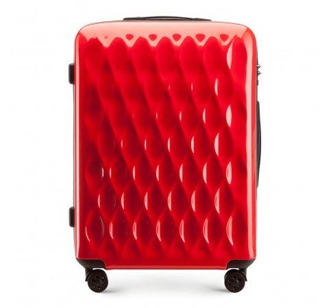 Közepes méretű bőrönd, piros, 56-3H-552-90, Fénykép 1