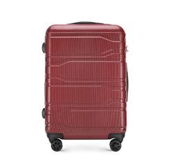 Közepes bőrönd, piros, 56-3P-982-31, Fénykép 1