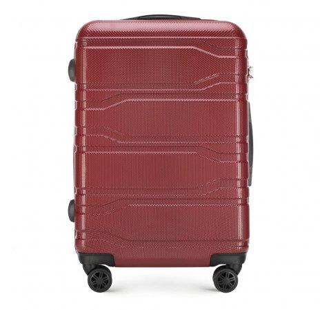Közepes bőrönd, piros, 56-3P-982-91, Fénykép 1