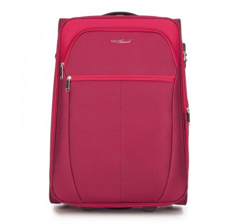 Közepes bőrönd, piros, V25-3S-232-31, Fénykép 1
