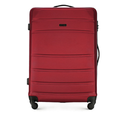 ABS nagy bőrönd bordás, piros, 56-3A-653-35, Fénykép 1