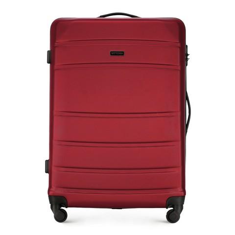 ABS nagy bőrönd bordás, piros, 56-3A-653-90, Fénykép 1
