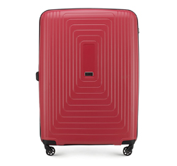 Nagy bőrönd polipropilén geometrikus minta WITTCHEN, piros, 56-3T-783-30, Fénykép 1