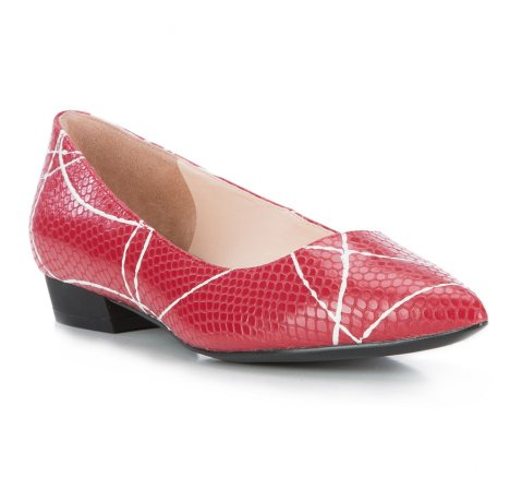 Női cipő, piros, 84-D-602-3-37, Fénykép 1