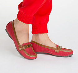 Női cipő, piros, 86-D-704-3-36, Fénykép 1