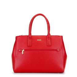 Női shopper táska állítható szélességgel, piros, 92-4Y-613-3, Fénykép 1