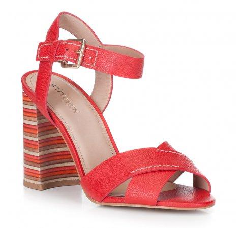 Női cipő, piros, 88-D-557-3-38, Fénykép 1