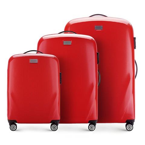 Bőröndszettek, piros, 56-3P-57S-90, Fénykép 1