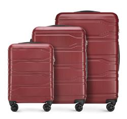Bőröndszettek, piros, 56-3P-98S-31, Fénykép 1