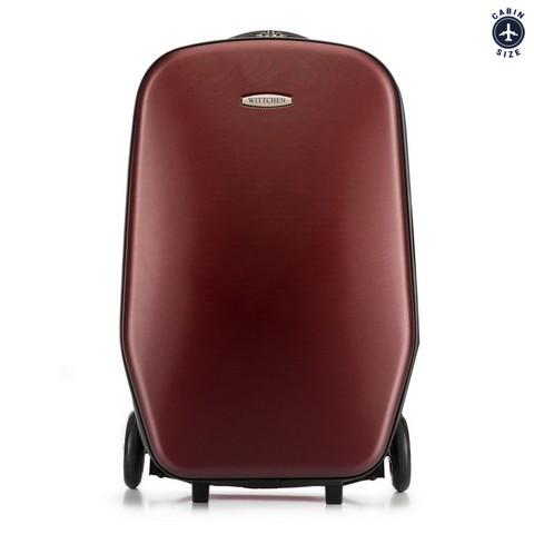 Rolleres bőrönd, piros, 56-3H-500-30, Fénykép 1