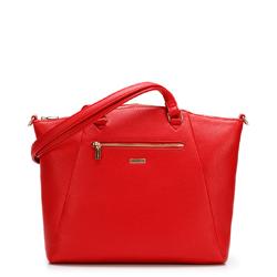 Shopper táska trapéz steppeléssel, piros, 92-4Y-614-3, Fénykép 1