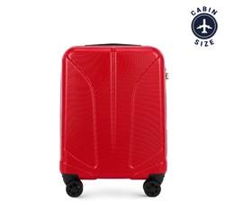 Kabinbőrönd polikarbonát vésett, piros, 56-3P-811-30, Fénykép 1