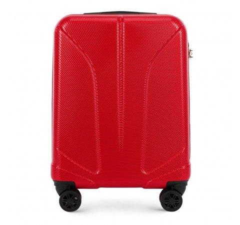 Kabinbőrönd polikarbonát vésett, piros, 56-3P-811-10, Fénykép 1