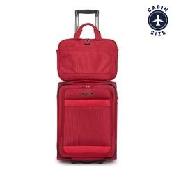 Bőrönd + laptoptáska, piros, 56-3S-580-30, Fénykép 1