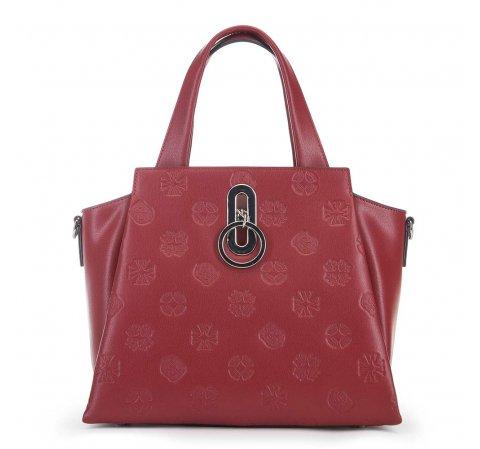 bőrönd típusú női bőrtáska, piros, 91-4E-610-4, Fénykép 1