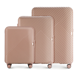 Bőröndszettek, por rózsaszín, 56-3P-84S-77, Fénykép 1