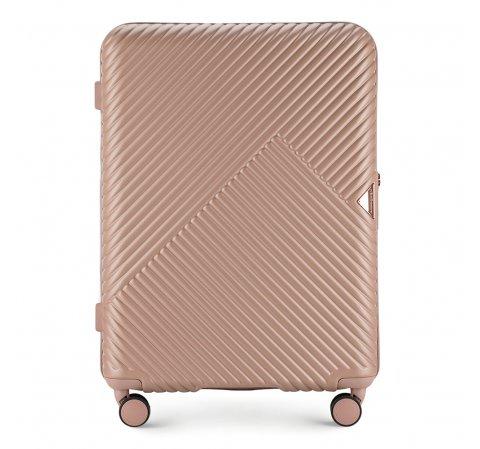 Közepes bőrönd, por rózsaszín, 56-3P-842-77, Fénykép 1