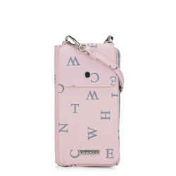 Telefon - és kártyatartó táska, por rózsaszín, 92-2Y-568-PX, Fénykép 1