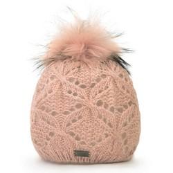Mütze für Frauen, puderrosa, 87-HF-004-P, Bild 1