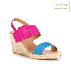Frauen Schuhe, rosa-blau, 88-D-505-7-39, Bild 1