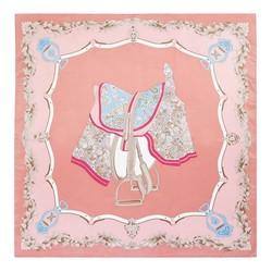 Mittelgroßes Seidentuch, rosa-braun, 93-7D-S39-2, Bild 1