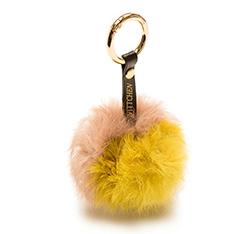 Schlüsselanhänger, rosa-gelb, 85-2F-X99-X4, Bild 1