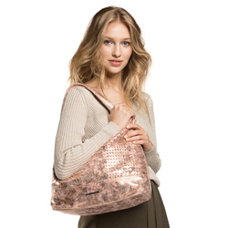 Damentasche, rosa-gold, 86-4Y-417-P, Bild 1