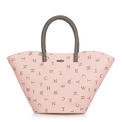 Einkaufstasche, rosa-grau, 90-4Y-550-P, Bild 1