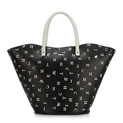 Einkaufstasche, schwarz-weiß, 90-4Y-551-1, Bild 1