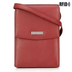 2-in-1-Mini-Crossbody-Tasche aus Leder, rot, 26-2-100-3, Bild 1