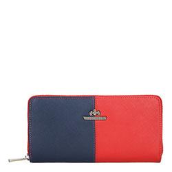 Brieftasche, rot-dunkelblau, 13-1-482-3N, Bild 1