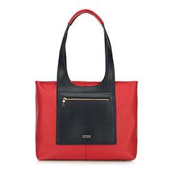 Einkaufstasche, rot-dunkelblau, 90-4Y-552-3, Bild 1