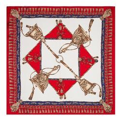 Frauenhalstuch, rot-dunkelblau, 89-7D-S14-X5, Bild 1