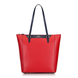 Shopper-Tasche, rot-dunkelblau, 88-4E-400-3, Bild 1