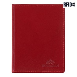 Dokumentenmappe aus Leder, einfach, rot, 14-2-163-L91, Bild 1