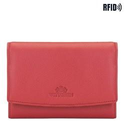 Damen -Geldbörse aus Leder, rot, 02-1-062-3L, Bild 1