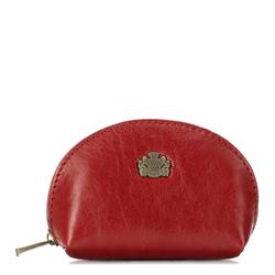 Halbrunde Münzbörse aus Leder, rot, 10-2-032-3, Bild 1