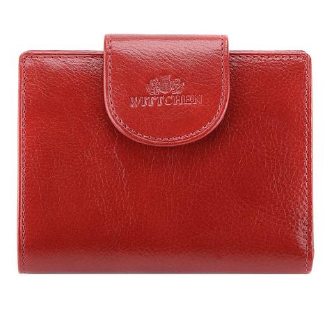 Rote Geldbörse aus Leder